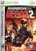 Tom Clancy's Rainbow Six: Vegas 2 (Microsoft Xbox 360, 2008) DISC IS MINT - $4.59