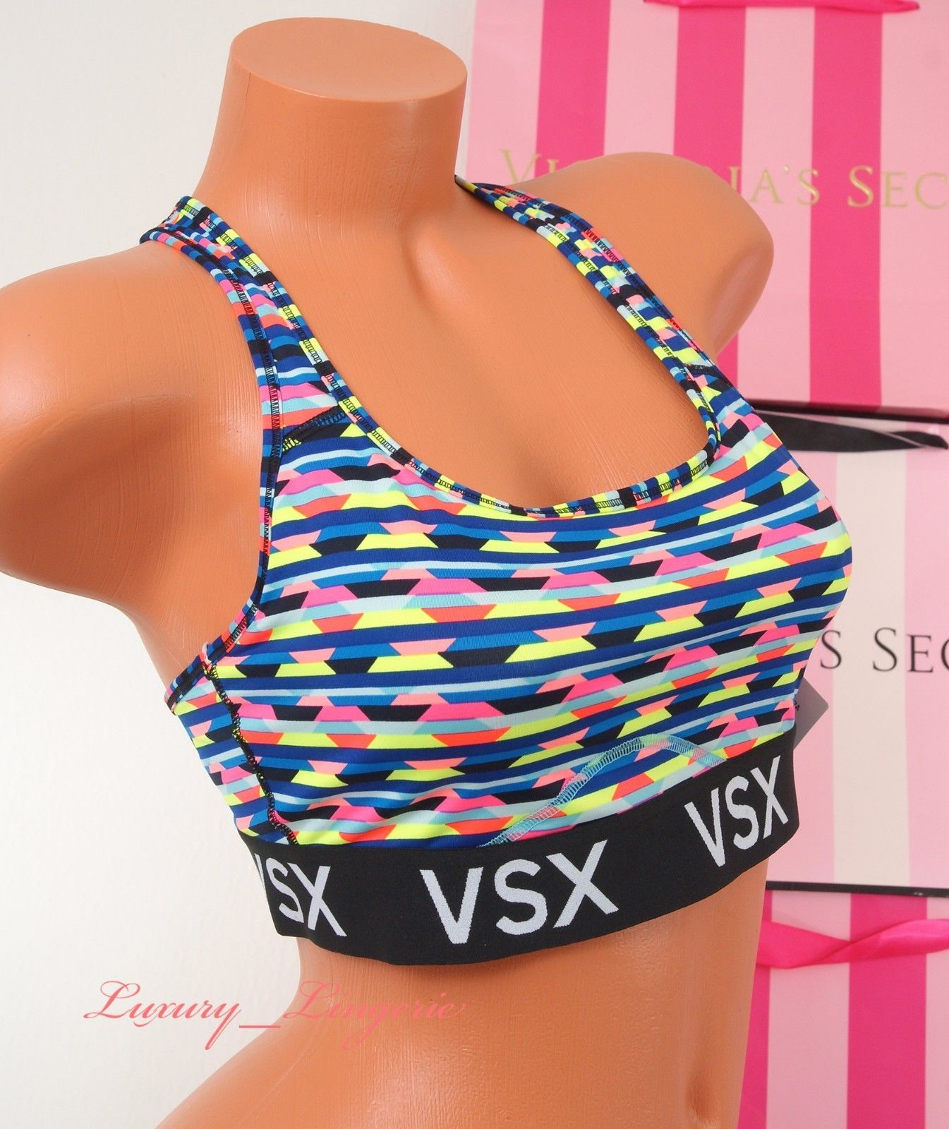 NWT VS VICTORIA'S SECRET Player VSX Sport Bra Racerback Bralette Unlined M 3II8