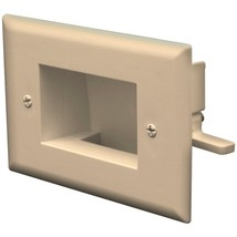 DataComm Electronics 45-0008-LA Easy-Mount Recessed Low-Voltage Cable Plate (Lig - $21.92