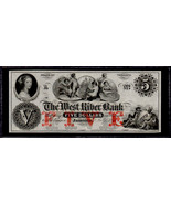 """OBSOLETE $5 18__'s """"Trade Dollar Coin note"""" Jamaica, VT Perfect Uncircul... - $199.00"""