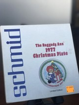 Schmid The Raggedy Ann 1977 CHRISTMAS PLATE Limited Edition - $55.27