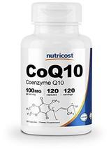 Nutricost CoQ10 100mg, 120 Veggie Capsules, 120 Servings - High Absorption, Vega