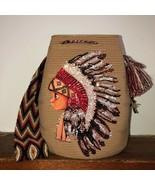 Authentic 100% Wayuu Mochila Colombian Bag Exclusive boho indian kid rhinestone - £98.87 GBP
