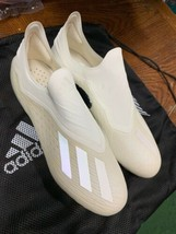 Adidas X 18 + Fg Soccer Cleats White Gold Limited Edition DB2217 Size Ma... - $247.50