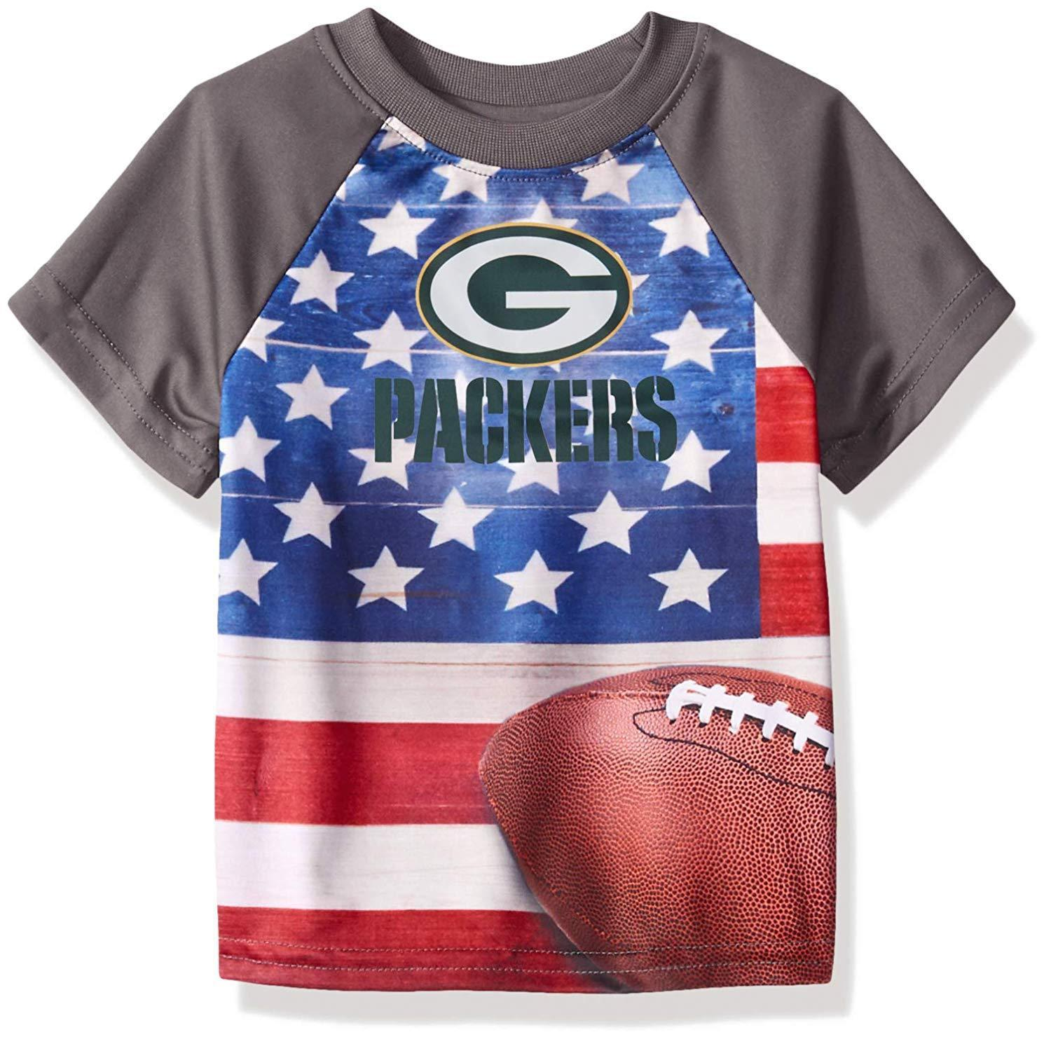 4T Gerber Childrenswear Green Infant//Toddler Green Bay Packers Poly T-Shirt