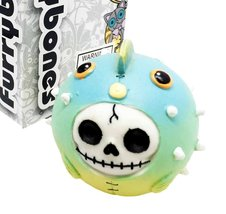 Furrybones Cute Puffington Skeletal Monster Bloated Fish Ornament Figurine - $11.98