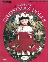 Musical Christmas Dolls to Crochet 4 Designs Leisure Arts 2219 1992 - $4.74