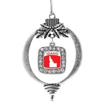 Inspired Silver Idaho Outline Classic Holiday Christmas Tree Ornament With Cryst - €12,81 EUR