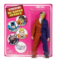 Two-Face Retro Action DC Super Heroes Action Figure by Mattel NIB 2010 - $44.54