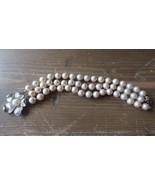 Vintage ALICE CAVINESS Faux Pearl Multi Strand Bracelet 7.5 inches x 2.5cm - $197.99