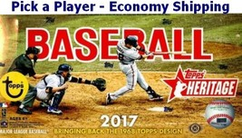 2017 Topps Heritage Baseball Complete Your Set 1-200 Economy Shipping - $0.98+