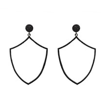 Lovely Black Spinel Gemstone 925 Sterling Silver Dangle Earring Shine Je... - $31.09