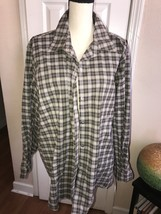 Villager Sport Brown Plaid Shirt. Sz 3x - $17.99