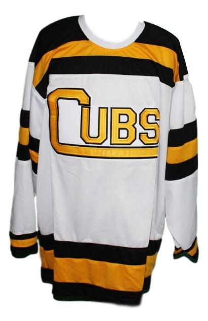 Custom name   boston cubs retro hockey jersey white   1