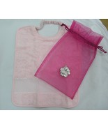 Pink organza bag silver 0,925 bear with pink bib 84294 - $34.65