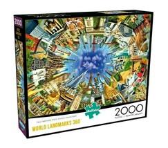 2000 Piece Jigsaw Puzzle Buffalo Games 38 in. x 26 in., World Landmarks 360 - $28.45