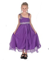 Cinda Purple Flower Girl Dress Party Dress Bridesmaid Dress 12 Month - 1... - $19.14+