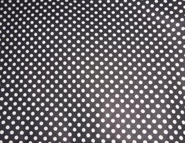 Polka Dots White on Black Fabric Hair Scrunchie Scrunchies by Sherry  - $6.99