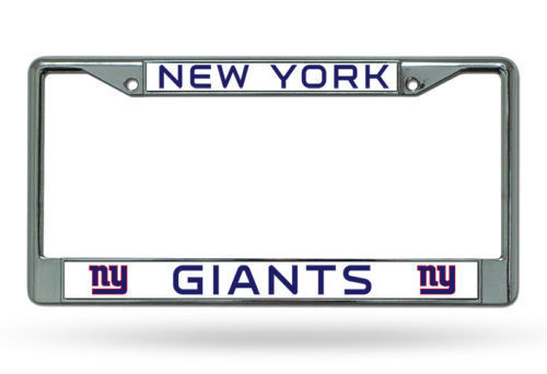 NEW YORK GIANTS CAR AUTO CHROME METAL LICENSE PLATE TAG FRAME NFL FOOTBALL