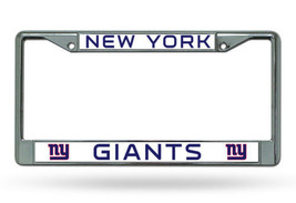 NEW YORK GIANTS CAR AUTO CHROME METAL LICENSE PLATE TAG FRAME NFL FOOTBALL - $14.86