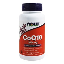 NOW Foods CoQ10 Cardiovascular Health with Hawthorn Berry 100 mg., 90 Vegetarian - $23.89