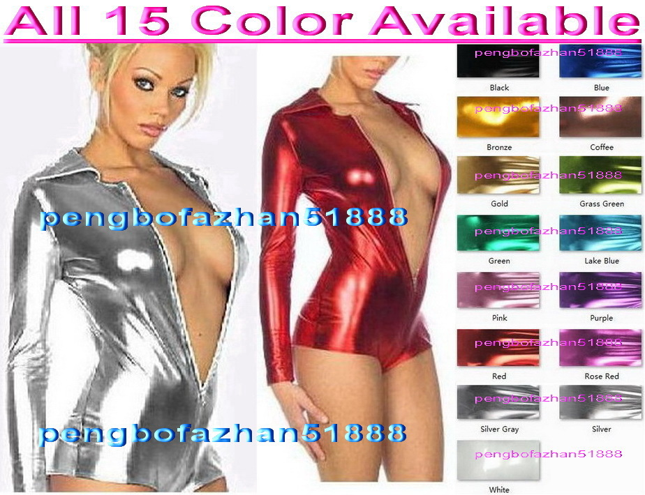 c930a2c2b9d Sexy Short Body Suit New 15 Color Shiny and similar items
