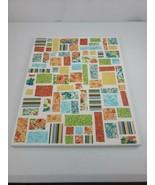 """Ticker Tape Quilt Canvas Homemade Wall Art Flowers Mosaic 20"""" Tall 16"""" Wide - $19.99"""