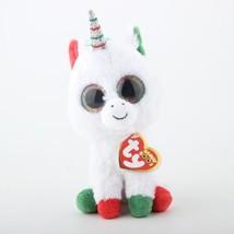 Ty Beanie Boos New Colorful White Unicorn Plush Toy Doll Baby Girl Birth... - $12.00