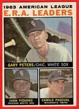 1963 Topps #2 Camilo Pascual/ Gary Peters/ Juan Pizarro baseball card - $1.00