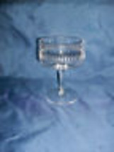 Lenox Cameo Crystal Champagne Glass/Tall Sherbet Cut Etched Geometric 19... - $16.99