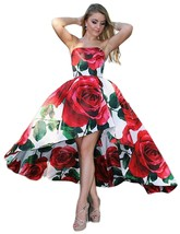 Women's Floral Print Prom Dresses Evening Dress High Low Formal Party Gowns - $118.99