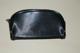 Mary Kay Small Black Makeup Bag With Zipper And Pink Lining - $9.49