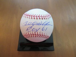 BILLY WILLIAMS 1961 ROY HOF CHICAGO CUBS A'S SIGNED AUTO BASEBALL JSA AU... - $98.99