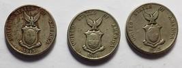 3 Phillipine Five Centavos Filipinas Coins:  1944, 1945  - $5.95