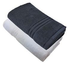 4 Stk. Luxus Hotel Qualität Ägyptische Baumwolle Schwarz Weiß - $44.19