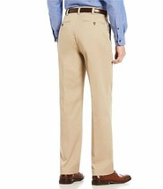 Men's Roundtree & Yorke Trim Fit Chinos Khaki Easy Care Dress Pants - 30x30 image 2