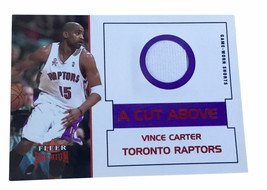 2002-03 Fleer Premium - A Cut Above Ruby #2 Vince Carter /100 Game Worn ... - $17.75
