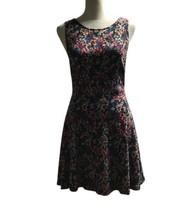 Forever 21 Women Multi Color Floral Round Neck Sleeveless Dress Knee Len... - $31.14