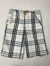 Lee Dungarees Youth Boys Kids RelaxedFit Bermuda Shorts 14 Reg Striped Adj Waist - $14.52