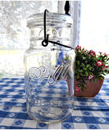 Vintage Ball Ideal Clear Glass Jar 1923-1933 Wire Bail 1 Quart No 6 Cani... - £13.76 GBP