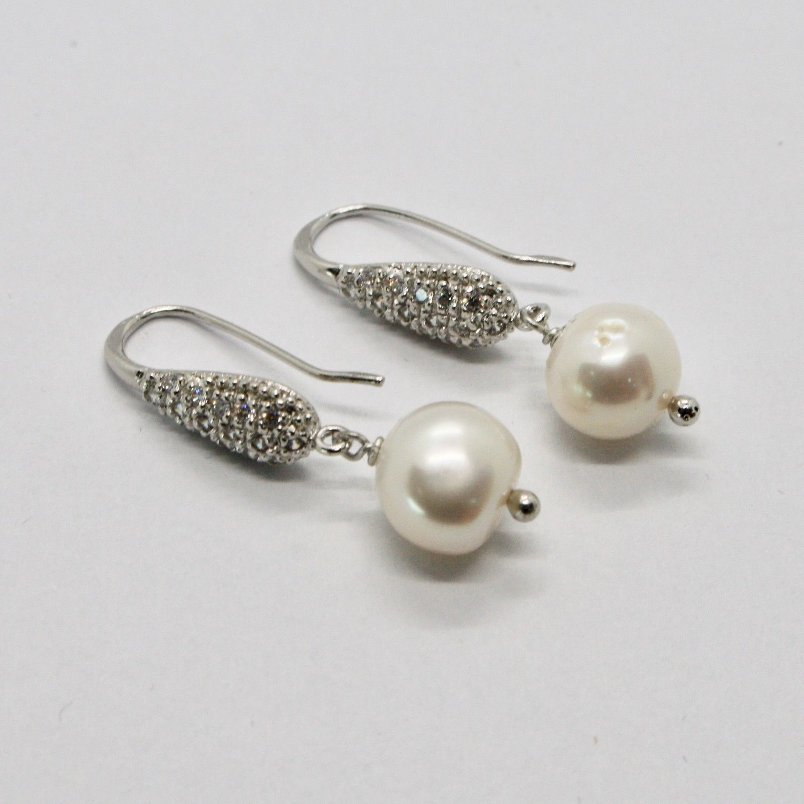 DROP EARRINGS 925 SILVER PEARLS SERENITY BY MARY JANE IELPO MADE IN ITALY