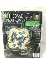 Alice Peterson Home Creations Needlepoint Pillow Top Kit Fantasy Butterf... - $59.39
