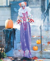 HALLOWEEN LIFE SIZE ANIMATED STANDING CLOWN  PROP DECORATION HAUNTED HOUSE - £53.18 GBP