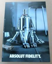ABSOLUT FIDELITY Australian Large-Size Vodka Magazine Ad © 2002 - $9.99
