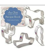 Ann Clark Cookie Cutters 4 Piece Cinco de Mayo Set Donkey Cactus Pepper ... - $11.65