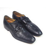MELTONIAN Black Leather Moccasin Toe Oxford Dress Shoes Mens 9 Made in G... - $28.70