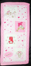 My Melody Heart Pattern 34 X 76 Cm Pink Color Exercise / Shower Use Cotton Towel - $10.99