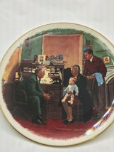 """Norman Rockwell """"The Annual Visit"""" Gorham Collector's Plate Number 8455 - $39.90"""