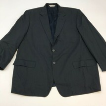Pronto Uomo Blazer Sport Coat Men's Size 48R Black Two Button Front Wool... - $29.99
