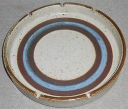 "MID CENTURY Otagiri Stoneware HORIZON PATTERN 8 1/2"" Ashtray MADE IN JAPAN - $23.75"